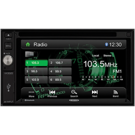 Jensen VX3020 2DIN 6.2-inch Multimedia Receiver with App Control and Built-In Bluetooth