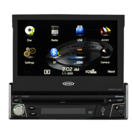 Jensen VX4010 1DIN 7-inch Multimedia Receiver with App Control and Built-In Bluetooth