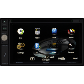 Jensen VX4020 2DIN 6.2-inch Multimedia Receiver with App Control and Built-In Bluetooth