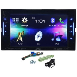 JVC KW-V120BT Double Din Multimedia Car DVD/CD Reciever – $219.99