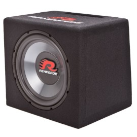 Renegade RXV1200 600 Watt 12″ Subwoofer With Enclosure – 4 ohm – $129.99