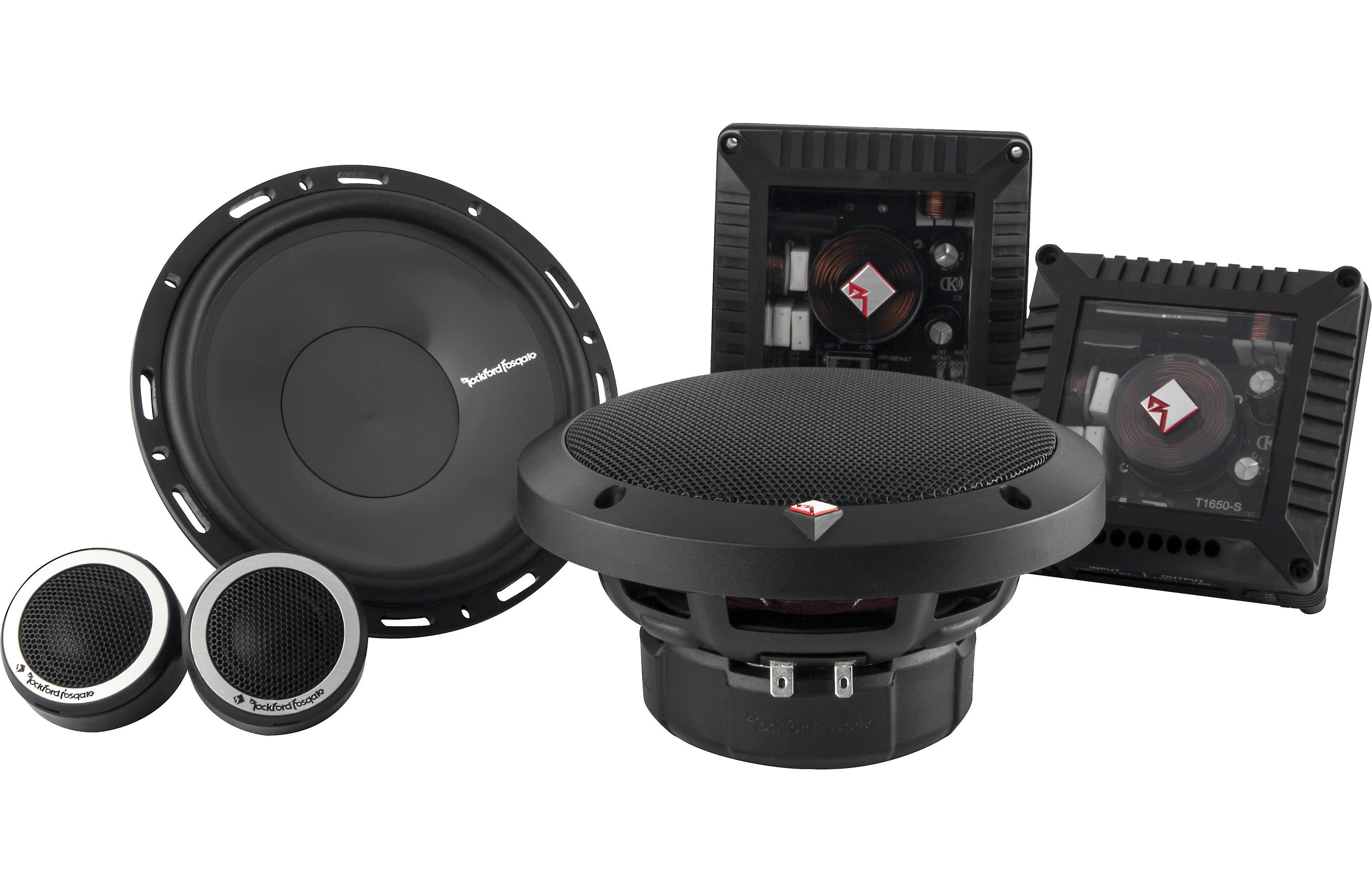 Rockford Fosgate T1650-S Power 6.50 2-Way Euro Fit Compatible Component Speaker System